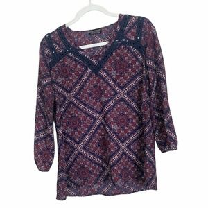 Papermoon Stitchfix Kahool Crochet Geometric Top
